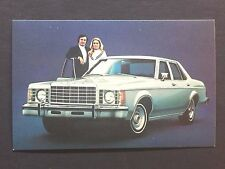 1975 FORD GRANADA 4-DOOR promotional postcard (for dealers use) ..ever have one?
