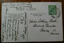 GENEALOGY MISS LOTTIE ROOK SKIRBECK QUARTER BOSTON LINCS 1911 POSTCARD