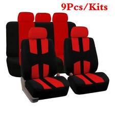 Red Car Seat Covers 9pcs Full Car Styling Seat Cover for Car Interior Accessores