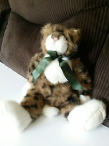 Boyds Bear- Spotted Tiger Cat - Brown black white1988 -2004