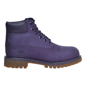 Timberland 6 Inch Premium Waterproof Little Kids' Boots Purple tb0a14uc