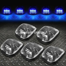 FOR 99-16 FORD SUPERDUTY 5PCS BLACK BLUE LED CAB ROOF RUNNING LIGHT+HARNESS