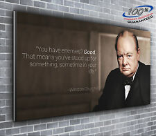 Winston Churchill Quote Panoramic Canvas Print XXL 4 foot wide x 1.5 foot No.44