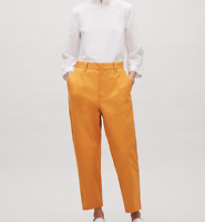 COS Amber Orange Relaxed Cropped Chinos Slim Leg Trousers (UK Size 12)