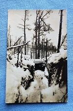 German WWI Era Post Card, Snowy Forest, Feb. 1917