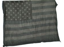 John Varvatos Collection Gray Flag Print Scarf