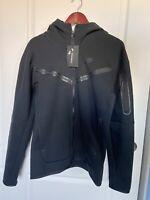 Nike Men's Sportswear Tech Fleece Full Zip Hoodie Black Size S CU4489-010