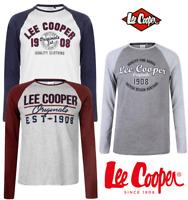 TEE SHIRT LEE COOPER MANCHES LONGUES HOMME COL ROND  DU S AU XXL