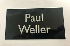 Paul Weller (The Jam) - 130x70mm Engraved Plaque / Plate for Signed Memorabilia