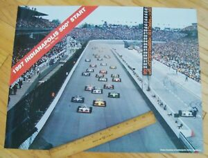 "1997 INDY 500 START POSTER 22"" X 17"" Official Indy Speedway Photo ARIE LUYENDYK"