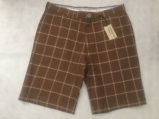 """Mid 7 to 13"""" Inseam Cotton Checked Slim Shorts for Men"""