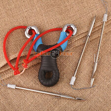 Hunting Fishing Catapult Archery Bow Arrows Hunter with Red Rubber Band