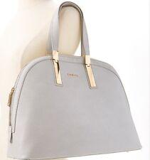 NWT BEBE Ashley Dome Paloma Grey Satchel Tote Purse Stylish Handbag Bag Gift