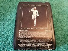 Andrew Gold- 'All This And Heaven Too' 8-Track Tape Cartridge- Tested, Works