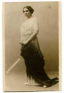 Russian Antique Photo Postcard Actress Plevitskaya