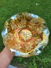 Marigold Millersburg Carnival Glass Primrose Ruffled Bowl