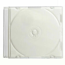 Lot of 50 CD DVD White Slim Jewel Case