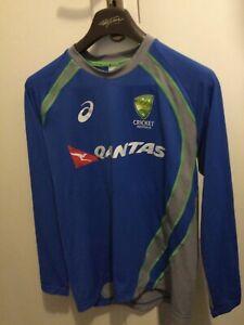 asics cricket australia Off Lic Long Sleeve T Shirt S