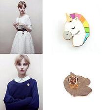 1Pc Horse Head Unicorn Shape Shirt Collar Metal Brooch Pins Jewelry