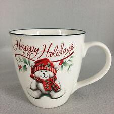 Pfaltzgraff Winterberry Happy Holidays Teddy Bear Mug Large 20 oz Christmas