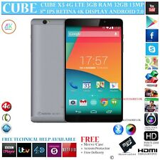"CUBE X5 4G LTE 3GB RAM OCTA CORE GPS 32GB 8"" RETINA 7.0 ANDROID PHONE TABLET PC"