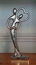 In Love Couple Dancing Heart Ornament Silver Sculpture Ornament Figurine New