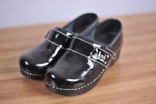 Koi by Sanita Leather Patent Clogs Black Sz Women's 36
