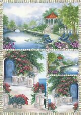Papier de découpage Paysage Kiosque DFG302 Collage Decopatch