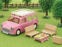 CALICO CRITTERS SYLVANIAN FAMILIES Pink Picnic Wagon Car Toy Vehicle Epoch Japan