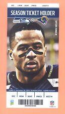 St.Louis Rams  Seattle Seahawks 2014 ticket Earl Thomas III photo Russell Wilson