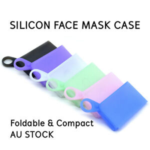 Silicon Face Masks Storage Foldable Carrier Portable Container Case