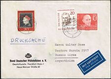2763 GERMANY TO ARGENTINA DRUCKSACHE AIR MAIL COVER 1958 FRANKFURT - Bs. AIRES
