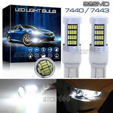 2x 7443 7515 T20 92SMD White Daytime Running Light High Power LED Projector Blub
