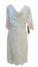 New linea raffaelli Mother of the Bride dress Lace Old Gold 40