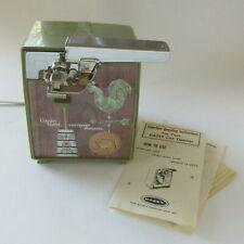 Vintage Electric Can Opener Knife Sharpener Avocado Dazey Country Manor Rooster