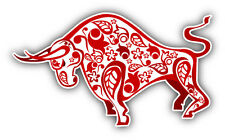"""Red Ox Chinese Horoscope Car Bumper Sticker Decal 5"""" x 3"""""""