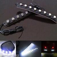 Universal Car waterproof 8 LED Daytime Running Light DRL Fog Driving Lamp 2 Pcs