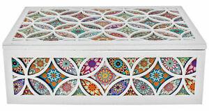 BEAUTIFUL gypsy boho large printed bohemian box jewellery gift