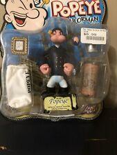 "Mezco - Popeye - Pea Coat Popeye 5"" Action Figure 2001 New On Card"