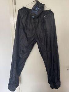 Mac In A Sac Black Waterproof Trousers Size Medium M