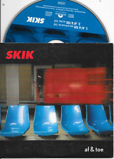 SKIK - Af & toe CD SINGLE 2TR Dutch Cardsleeve 1999 (Polydor) Daniel Lohues