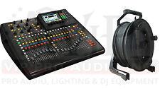 Behringer X32 COMPACT mint 32-Channel Mixer Board + NCAT5E-50M CAT5 Cable-164FT