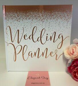 WEDDING PLANNER ROSE GOLD organiser book journal engagement bridal shower gift