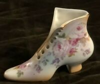 Vintage RS Prussia Porcelain Victorian Boot Shoe - Hand Painted Roses