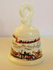 More details for ceramic decorative bell polish towns print & sign 'from poland