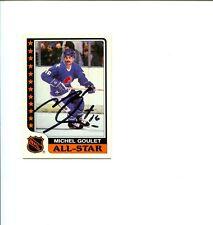 Michel Goulet Quebec Nordiques HOF Upper Deck Signed Autograph Photo Card