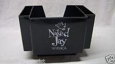 Naked Jay Vodka - Promotional Plastic Barware Napkin & Stirrer Caddy *New*