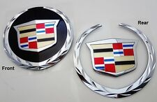 Cadillac ESCALADE 2007 - 2014 FRONT & REAR Emblems ! WITHOUT REAR PLATE ! EXT !