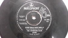 THE SWINGING BLUE JEANS parlophone golly miss molly rare SINGLE INDIA 113 VG+