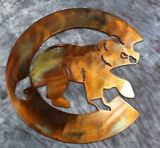 """Chicago Cubs LARGE 36"""" Metal Wall Art"""